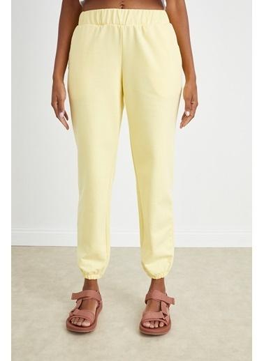 Curly Sarı Jogger Pantolon Sarı